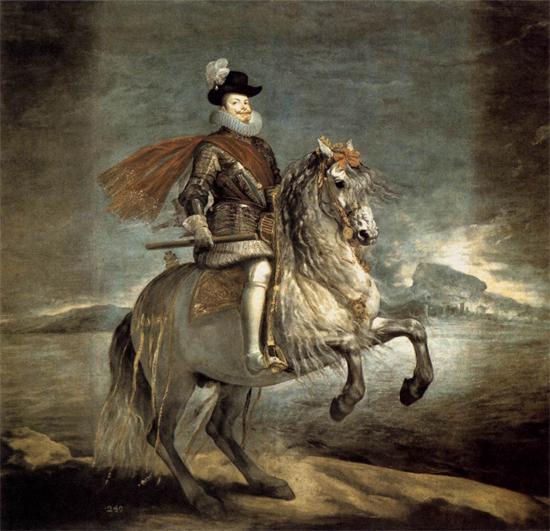 "1634 Веласкес Диего ""Филипп III на коне."""