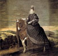 Королева Маргарита на коне. 1635