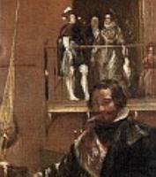 Принц Бальтазар Карлос с графом-герцогом Оливаресом в королевских конюшнях (фрагмент). 1636