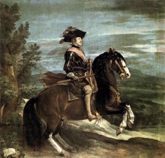 "1634 Веласкес Диего ""Филипп IV на коне."""