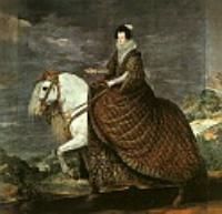 Королева Изабелла Бурбон на коне. 1634