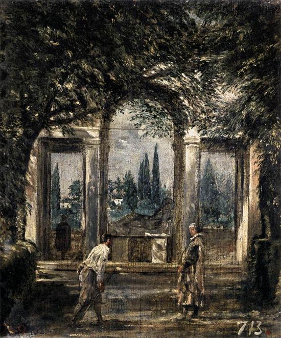 """1630 Веласкес Диего """"Вилла Медичи, павильон Ариадны."""""""