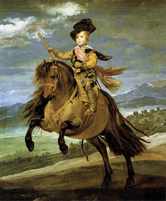 "1635 Веласкес Диего ""Принц Бальтазар Карлос на коне."""