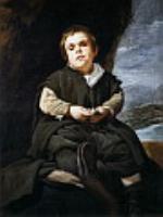 Карлик Франциско Лескано, прозванный Эль-Ниньо де Вальекас. 1644