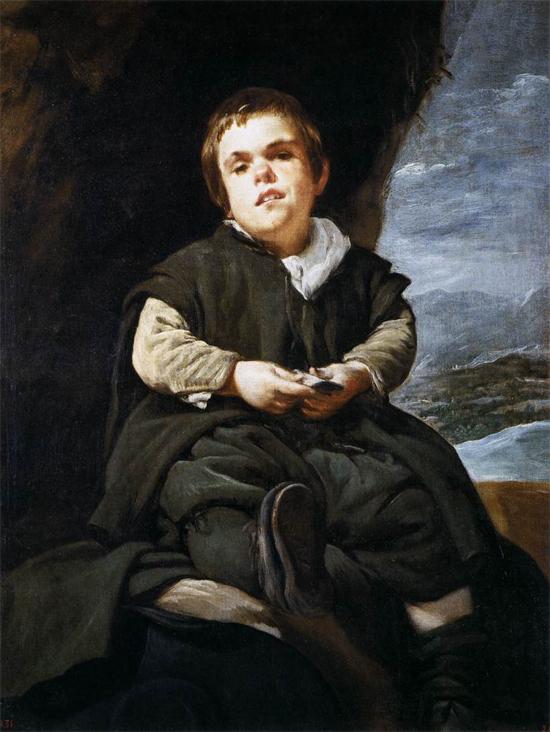 """1644 Веласкес Диего """"Карлик Франциско Лескано, прозванный """"Эль-Ниньо де Вальекас."""""""