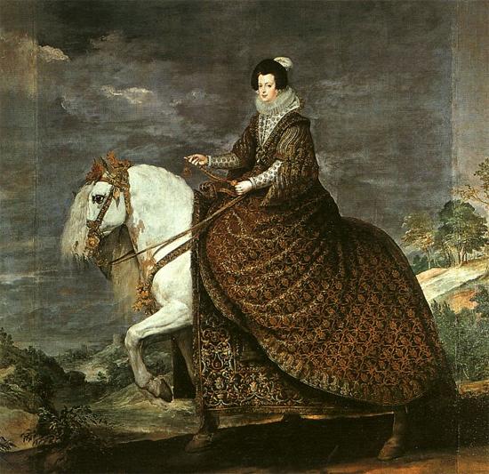 "1634 Веласкес Диего ""Королева Изабелла Бурбон на коне."""