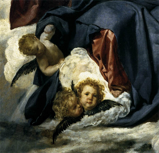 """1645 Веласкес Диего """"Коронация Богоматери (фрагмент)."""""""