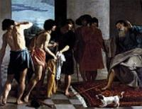 Кровавые одежды Иосифа принесли к Иакову. 1630