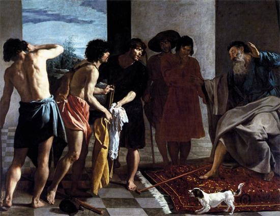 """1630 Веласкес Диего """"Кровавые одежды Иосифа принесли к Иакову."""""""