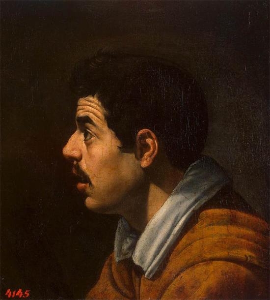 """1616 Веласкес Диего """"Голова человека."""""""