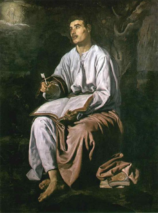 """1618 Веласкес Диего """"Св. Иоанн Богослов на Патмосе."""""""
