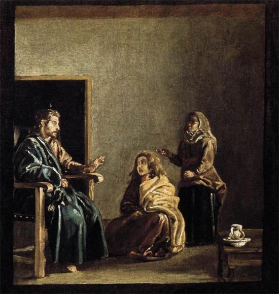 """1620 Веласкес Диего """"Христос в доме Марфы и Марии (фрагмент)."""""""
