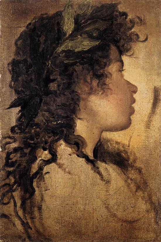"""1630 Веласкес Диего """"Эскиз головы Аполлона."""""""