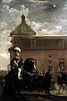 Принц Бальтазар Карлос с графом-герцогом Оливаресом в королевских конюшнях. 1636