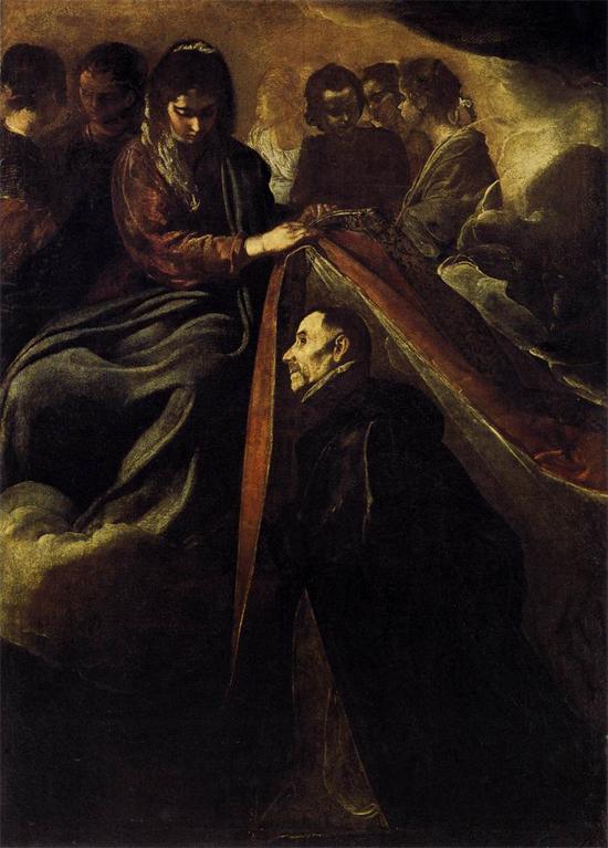 """1620 Веласкес Диего """"Святой Ильдефонсо получает ризу из Виргинии."""""""