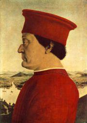 Пьеро Делла Франческо, Портрет Герцога Урбинского, около 1465