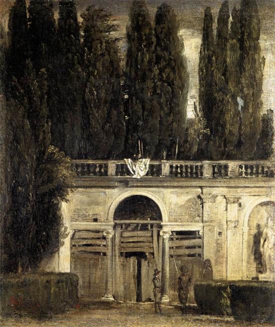 """1630 Веласкес Диего """"Вилла Медичи, большая лоджия фасада."""""""