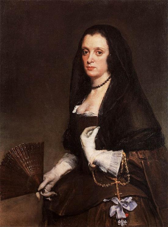"""1640 Веласкес Диего """"Дама с веером."""""""