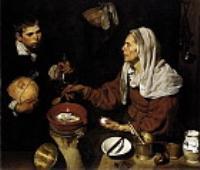 Старуха жарящая яйца. 1618