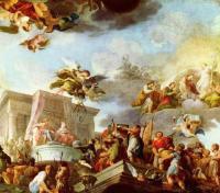 Христофор Колумб представляет их католическим величествам Новый Свет.
