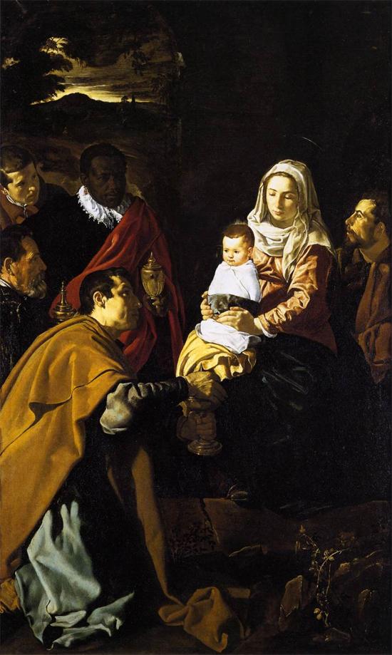 """1619 Веласкес Диего """"Поклонение волхвов."""""""