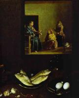 Христос в доме Марты и Марии (Фрагмент). 1618.