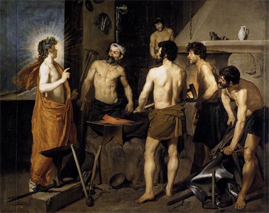 """1628 Веласкес Диего """"Кузница Вулкана."""""""