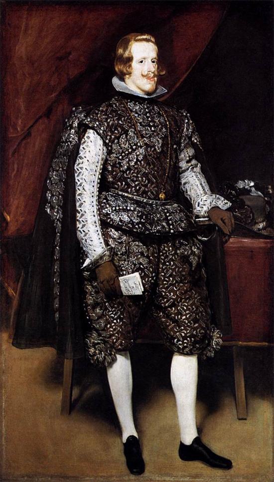 """1631 Веласкес Диего """"Филипп IV в коричневом и серебре."""""""