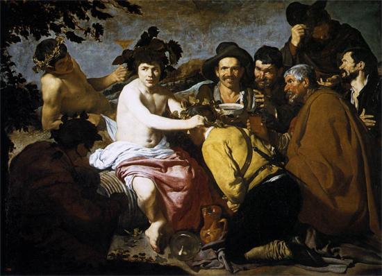 """1629 Веласкес Диего """"Триумф Вакха (пьяницы,таперы)."""""""