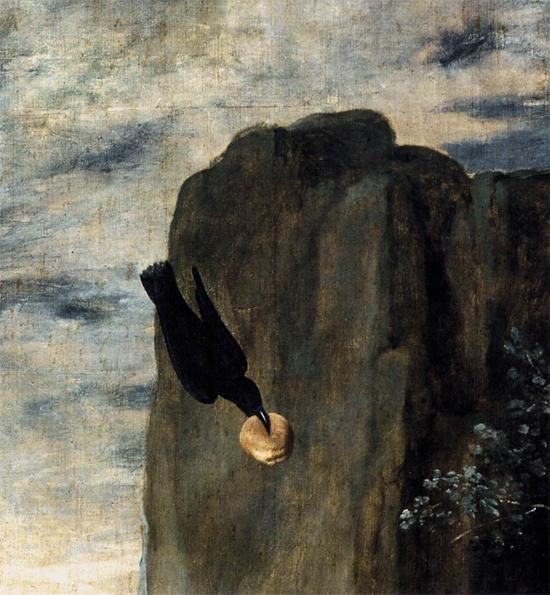 """1635 Веласкес Диего """"Аббат Св. Антоний и Павел Отшельник (фрагмент)."""""""
