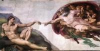Микеланджело. Сотворение Адама, 1508—1512, Сикстинская капелла