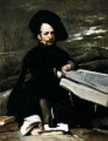 Карлик с книгой на коленях...1645