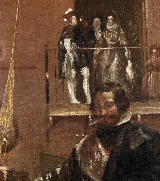 """1636 Веласкес Диего """" Принц Бальтазар Карлос с графом-герцогом Оливаресом в королевских конюшнях (фрагмент)."""""""