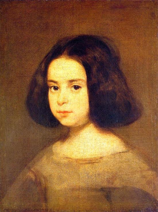 """1644 Веласкес Диего """"Портрет маленькой девочки."""""""